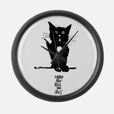 Cat by Dorbel Large Wall Clock