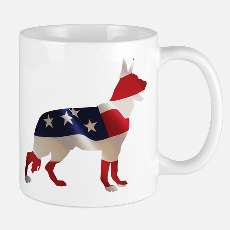 Patriotic German Shepherds Mug