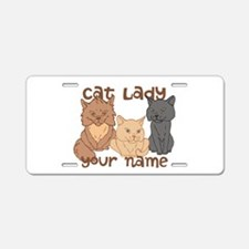 Personalized Cat Lady Aluminum License Plate