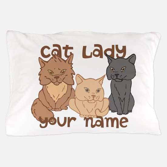 Personalized Cat Lady Pillow Case