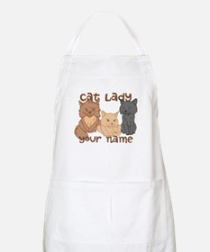 Personalized Cat Lady Apron