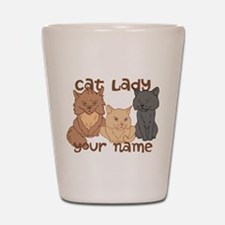 Personalized Cat Lady Shot Glass