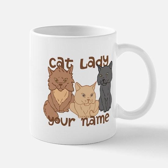 Personalized Cat Lady Mug