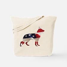 Patriotic German Shepherds Tote Bag