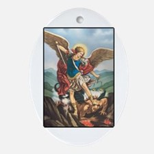 St. Michael the Archangel Oval Ornament