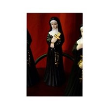 Picture Of Nun Figurines Rectangle Magnet