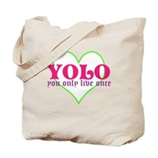 Cute yolo Tote Bag