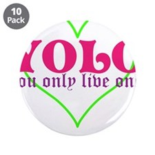 "Cute yolo 3.5"" Button (10 pack)"