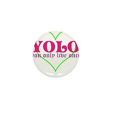 Cute yolo Mini Button
