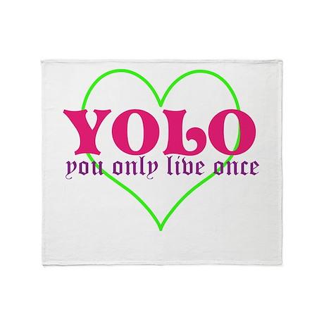Cute yolo Throw Blanket