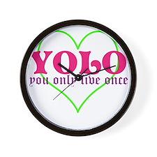 Cute yolo Wall Clock
