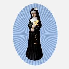 Nun Figurine Ornament (Oval)