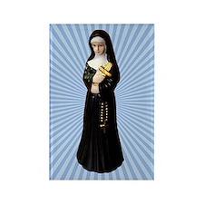 Nun Figurine Rectangle Magnet