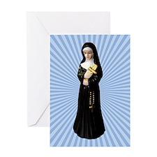Nun Figurine Greeting Card