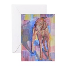 Mickey a Vizsla Greeting Cards (Pk of 10)