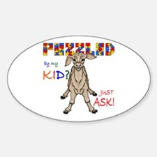 Puzzled? Just Ask! Sticker (Oval)