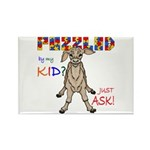 Puzzled? Just Ask! Rectangle Magnet (10 pack)
