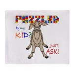 Puzzled? Just Ask! Throw Blanket