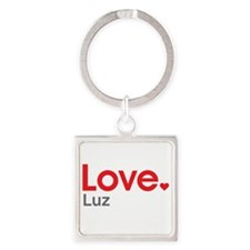 Love Luz Square Keychain