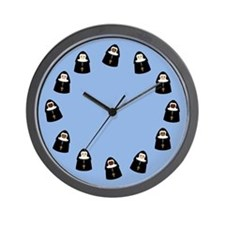 Cute Nuns Wall Clock