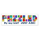 Puzzled? Just Ask! Sticker (Bumper 50 pk)