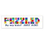 Puzzled by my kids? Bumper Sticker