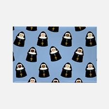 Cute Nuns Rectangle Magnet