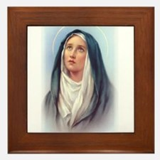 Virgin Mary - Queen of Sorrow Framed Tile