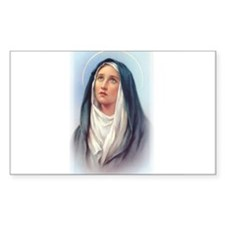 Virgin Mary - Queen of Sorrow Sticker (Rectangular