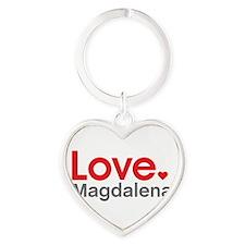 Love Magdalena Heart Keychain