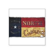 NC Flag Faded Sticker