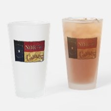 NC Flag Faded Drinking Glass