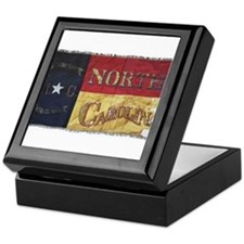 NC Flag Faded Keepsake Box