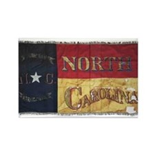 NC Flag Faded Rectangle Magnet