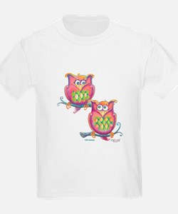 Pink owls, Pete and Re-pete T-Shirt