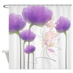 Lady of the Flowers Shower Curtain