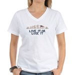 America, Love It or Lose It Women's V-Neck T-Shirt