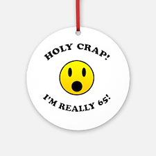 Holy Crap I'm 65! Ornament (Round)