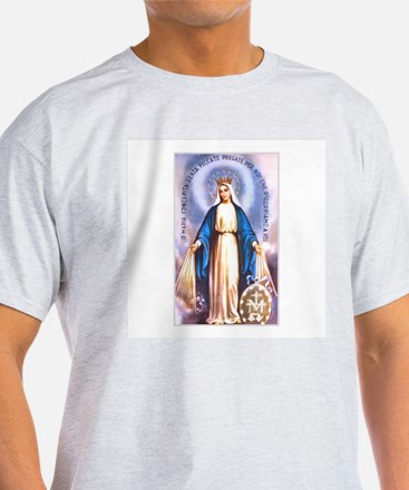 Miraculous Medal of Mary Ash Grey T-Shirt