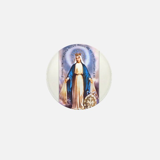 Miraculous Medal of Mary Mini Button (100 pack)