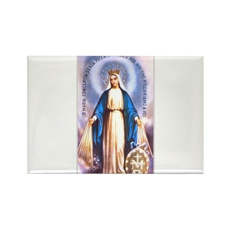 Miraculous Medal of Mary Rectangle Magnet