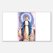 Miraculous Medal of Mary Rectangle Decal