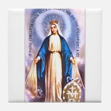 Miraculous Medal of Mary Tile Coaster