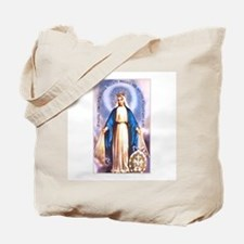 Miraculous Medal of Mary Tote Bag