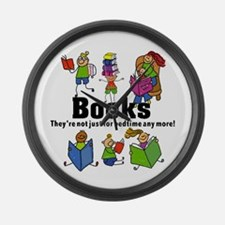 Books Bedtime Large Wall Clock