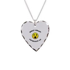 Holy Crap I'm 70! Necklace Heart Charm