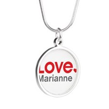 Love Marianne Silver Round Necklace
