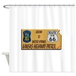 Kansas Highway Patrol Route 66 Shower Curtain