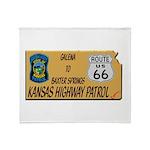 Kansas Highway Patrol Route 66 Throw Blanket