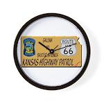 Kansas Highway Patrol Route 66 Wall Clock